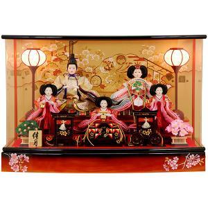 雛人形 ひな人形 K105 コンパクト 人形の佳月 雛人形 雛 ケース飾り 雛 親王飾り 雛名匠・逸品飾り 高級品 (2017年度新作)