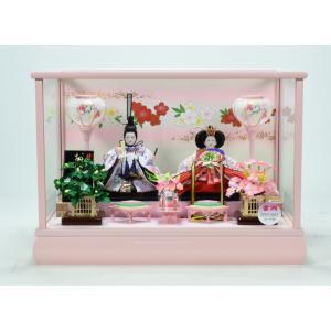 雛人形 【ケース飾り】 ひな人形 「紅白梅」|hinanokoei
