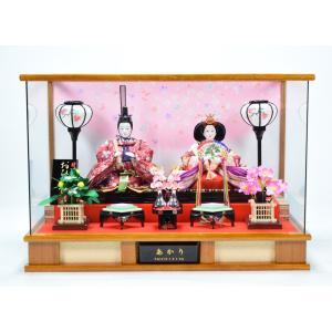 雛人形 【ケース飾り】 ひな人形 「さくら(木目)」|hinanokoei