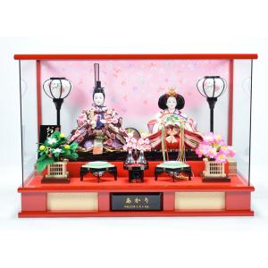雛人形 【ケース飾り】 ひな人形 「さくら(赤)」|hinanokoei