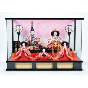 雛人形 【ケース飾り】 ひな人形 「さくら(黒)」|hinanokoei