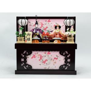 雛人形 【収納飾り】 ひな人形 「唐花雛」|hinanokoei