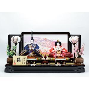 雛人形 【親王飾り】 ひな人形 「桜絵巻雛」|hinanokoei
