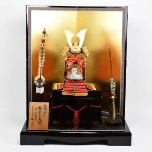 五月人形 鎧飾り 【雄山作】 本仕立竹雀赤糸威之大鎧 四分之一 528104|hinanokoei