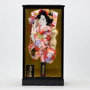 羽子板飾り 15号 黒塗 × 花の舞 匠一光作 hinanokoei