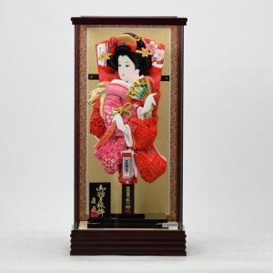 羽子板飾り 15号 清粋 × 正絹かのこ 匠一光作 hinanokoei