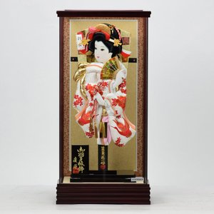 羽子板飾り 15号 清粋 × 刺繍鶴に牡丹 匠一光作 hinanokoei