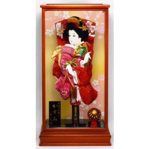 羽子板飾り 15号 かすみ × 25Y-1 匠一光作 hinanokoei