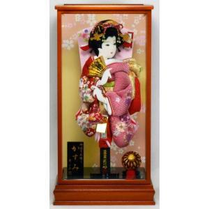 羽子板飾り 15号 かすみ × 15(9) 匠一光作 hinanokoei