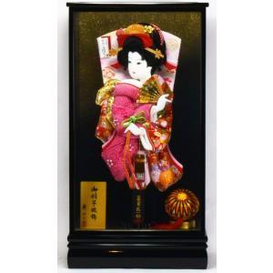 羽子板飾り 18号 黒塗 × 金らん&正絹かのこ 匠一光作 hinanokoei