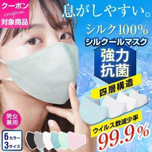 小杉織物 マスク 日本製 夏用 冷感 接触冷感 絹 洗えるマスク シルク 調節可能 不織布 フィルター 大きめ 小さめ メンズ 女性用|hinatajapan