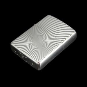 ZIPPO  ジッポーライター アーマーケース 銀100ミクロン ハリケーン 両面加工 彫刻 ARMOR|hinohikari-ii
