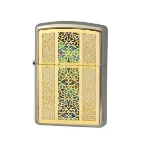 ZIPPO ジッポー ライター  Combi Shell コンビシェル A GF 両面加工 White Nickel 貝貼り|hinohikari-ii