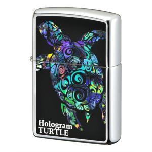 ZIPPO ジッポーライター  ホログラム タートル 亀 プレゼント 贈り物 オイルライター|hinohikari-ii