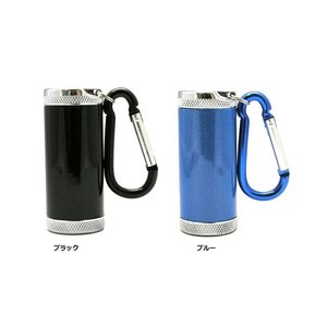 アドミラル産業 携帯灰皿 シリンダー5 ブラック81590002 ブルー 81590004 カラビナ付き|hinohikari-ii