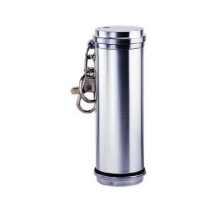 アッシュシリンダー ロング シルバー タバコ灰皿 携帯灰皿 ペンギンライター|hinohikari-ii