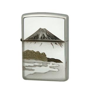 ZIPPO ジッポー オイルライター スターリングシルバー(純銀) 松富士 シルバー|hinohikari-ii