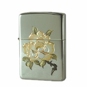ZIPPO ジッポー オイルライター スターリングシルバー(純銀) 和彫 バラ|hinohikari-ii