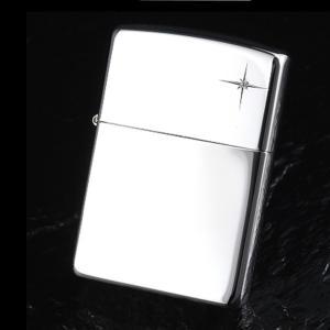 ZIPPO ジッポー オイルライター 15ダイヤ 天然石入り スターリング シルバー  純銀 喫煙具|hinohikari-ii