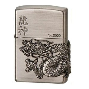 ZIPPO ライター ジッポー日本柄シリーズ 龍神 ニッケルいぶし 200DM/AN|hinohikari-ii