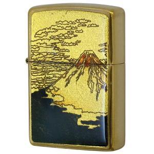 ZIPPO ジッポー ライター 金箔エポ Gold leaf 富士 和柄 オイルライター  喫煙具 プレゼント|hinohikari-ii