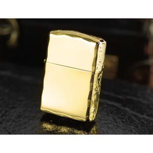 zippo ライター ジッポ アーマー ゴールドチタン3面手彫り ジッポー ライター|hinohikari-ii