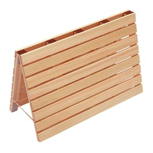 バスマットすのこL 国産ひのき 75cm×55cm お風呂マット 桧 檜 ヒノキ スノコ 細板|hinokiya-pro