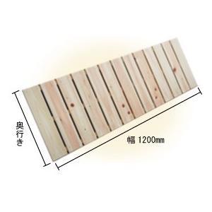ベランダすのこ 幅120cm×奥行85cm 国産ひのき ラック 棚 板材 桧 ヒノキ 檜|hinokiya-pro