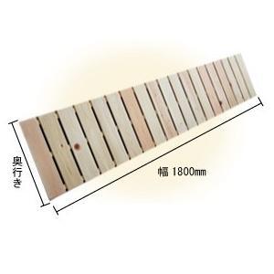 ベランダすのこ 幅180cm×奥行60cm 国産ひのき ラック 棚 板材 桧 ヒノキ 檜|hinokiya-pro
