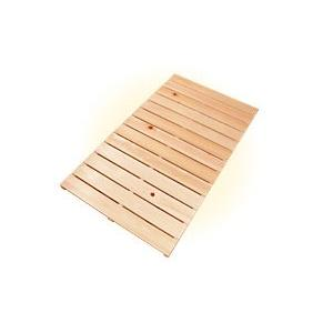ベビーすのこベッド 2つ折り ひもロック ひのき すのこマット 子供用 スノコ 桧 檜 ヒノキ|hinokiya-pro