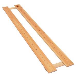 オープンラック支柱 150cm×27cm 国産ひのき すのこ棚|hinokiya-pro