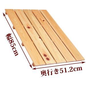 すのこ サイズ 85cm×51.2cm 国産ひのき 布団 スノコ ヒノキ 桧 檜 玄関 広板|hinokiya-pro