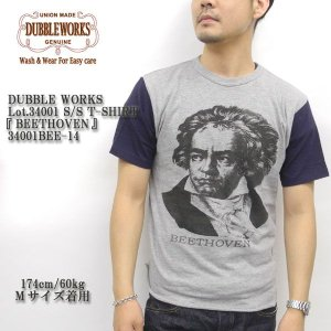 DUBBLE WORKS(ダブルワークス) Lot.34001 S/S T-SHIRT 『BEETHOVEN』 34001BEE-14|hinoya-ameyoko