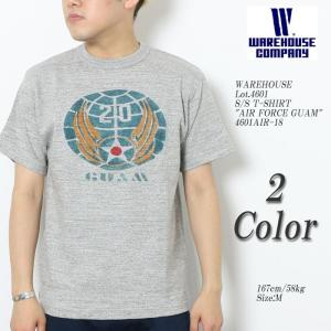 "WAREHOUSE(ウエアハウス) Lot.4601 半袖Tシャツ ""AIR FORCE GUAM""..."