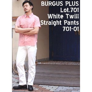 BURGUS PLUS(バーガスプラス) Lot.701 White Twill Straight Pants 701-01|hinoya-ameyoko