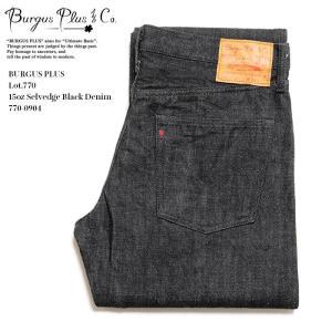 BURGUS PLUS(バーガスプラス) Lot.770 15oz セルビッジ ブラックデニム 770-09|hinoya-ameyoko