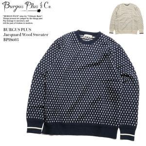 BURGUS PLUS(バーガスプラス) ジャガードウールセーター BP18603|hinoya-ameyoko