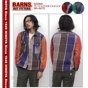 BARNS(バーンズ) ベーシックスタイルシャツ   BR-4472|hinoya-ameyoko
