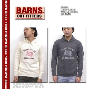 BARNS(バーンズ)LONG SLEEVE WAFFLE PARKA BR-4549|hinoya-ameyoko