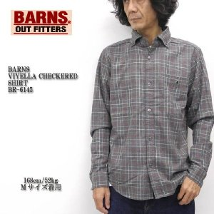 BARNS(バーンズ) VIYELLA CHECKERED SHIRT BR-6145|hinoya-ameyoko