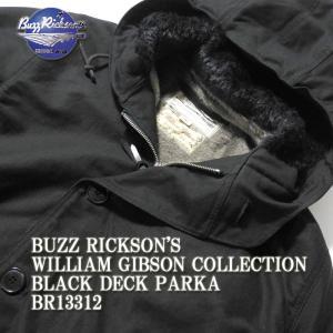 BUZZ RICKSON'S(バズリクソンズ) ウィリアム・ギブソン コレクション ブラック デッキ パーカー BR13312|hinoya-ameyoko
