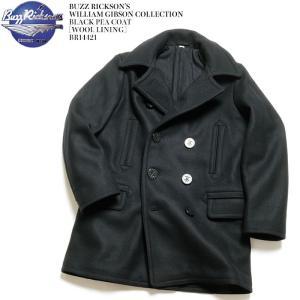 BUZZ RICKSON'S(バズリクソンズ) ウィリアム・ギブソンコレクション ブラック ピーコート ウールライニング BR14421|hinoya-ameyoko
