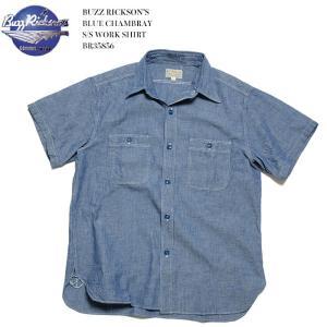 BUZZ RICKSON'S(バズリクソンズ) シャンブレー半袖ワークシャツ BR35856|hinoya-ameyoko