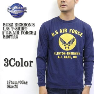BUZZ RICKSON'S(バズリクソンズ) 長袖 Tシャツ 『U.S.AIR FORCE』  BR67113|hinoya-ameyoko