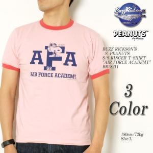BUZZ RICKSON'S × PEANUTS (バズリクソンズ) リンガーTシャツ