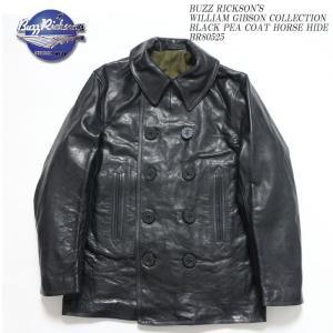 BUZZ RICKSON'S(バズリクソンズ) ウィリアム ギブソン コレクション ブラック PEA COAT ホースハイド BR80525|hinoya-ameyoko
