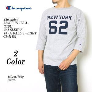 Champion(チャンピオン) MADE IN USA T1011 3/4 スリーブ フットボール Tシャツ C5-M402|hinoya-ameyoko
