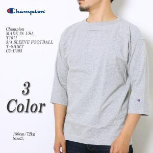 Champion(チャンピオン) MADE IN USA T1011 3/4 スリーブ フットボール Tシャツ C5-U403|hinoya-ameyoko