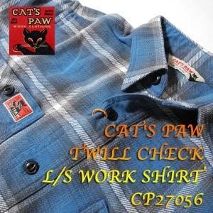 CAT'S PAW (キャッツポウ) TWILL CHECK L/S WORK SHIRT CP27056 hinoya-ameyoko