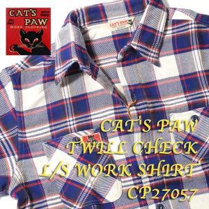 CAT'S PAW (キャッツポウ) TWILL CHECK L/S WORK SHIRT CP27057 hinoya-ameyoko